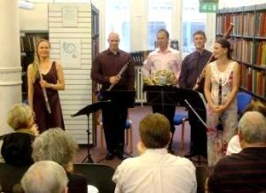 Victory Wind Quintet at Westminster Music Library, August 2014