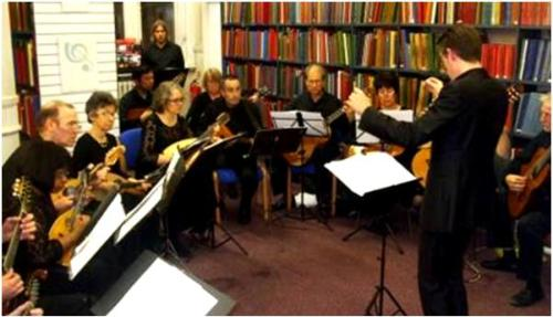 The London Mandolin Ensemble at Westminster Music Library, October 2014