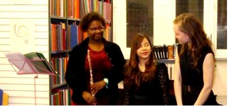 Aisha Meade, Sue Yieng Lee and Aurelia Apanavičiūtė at Westminster Music Library, December 2014