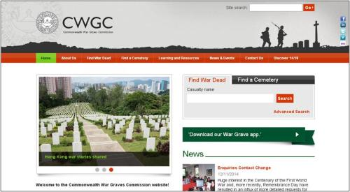 Commonwealth War Graves Commission home page