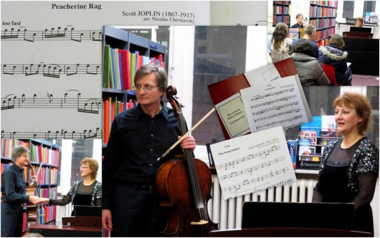 Nicolas Cherniavsky (cello) and Liliya Guzheva (piano) at Westminster Music Library, January 2015