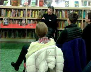 Author Lloyd Shepherd at St john's Wood Library, January 2015