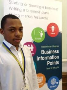 Naseem, the latest BIP volunteer at Westminster Reference Library