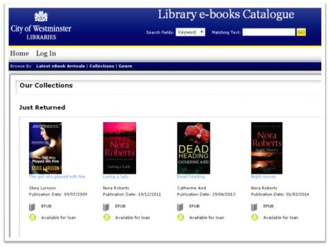 E-books from Westminster Libraries