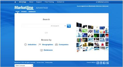 Marketline - one of our many online resources