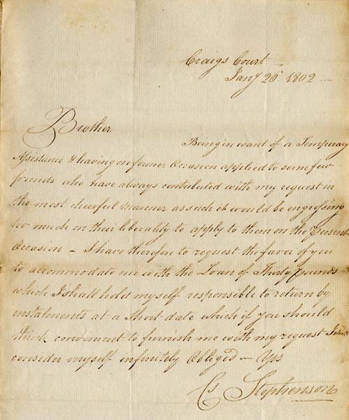 Letter - 26 January 1802
