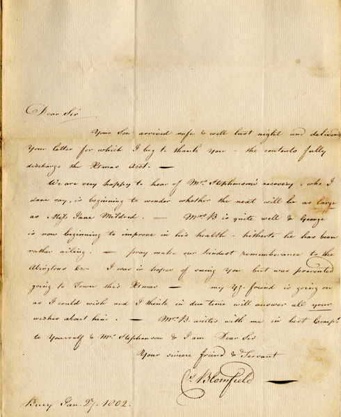 Letter, 27 January 1802