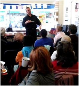 Michael Jecks at St John's Wood Library for World Book Day 2015