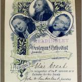 Presentation bookplate - Headingly Wesleyan Methodist Juvenile Home & Foreign Missionary Society