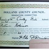 Presentation bookplate - Donington Cowley Girls' School, Holland County Council