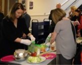 WAES showing us how to prepare healthy snacks at the Victoria Health & Volunteering fair, May 2015