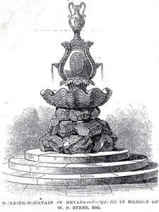 Drinking fountain, Byranston Square 1863
