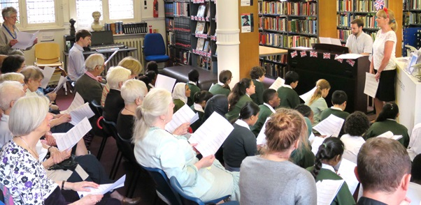 BBC Music Day WWII singalong at Westminster Music Library, June 2015