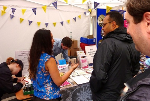 Marylebone Liubrary stall at the Summer Fayre 2015