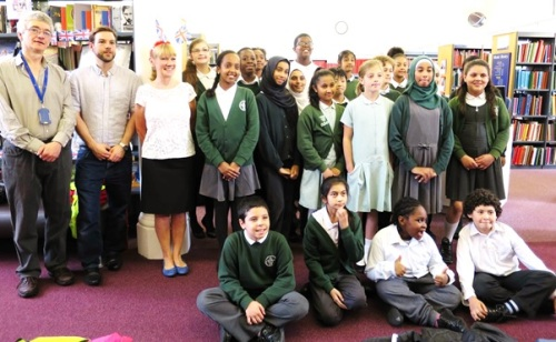 Children and WML staff at the BBC Music Day WWII singalong event, June 2015