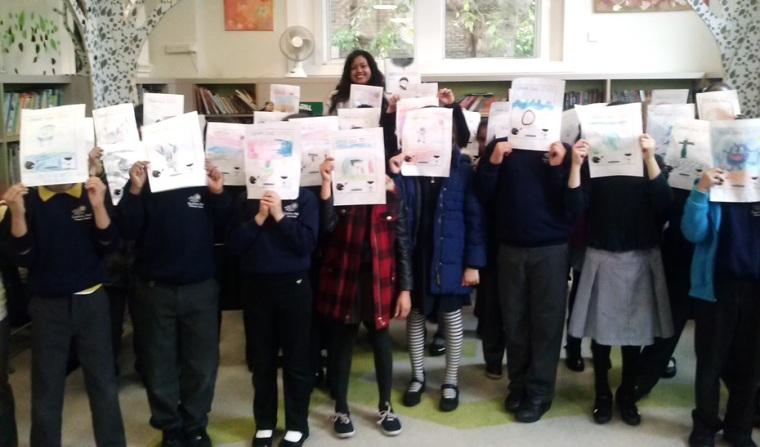 Sangeeta Bhadra visits Queen's Park Library