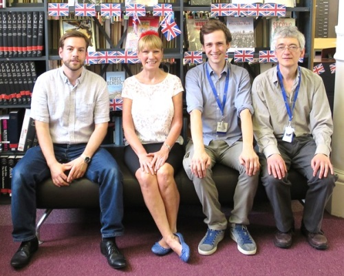 Some of the Westminster Music Library team