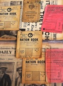 Marylebone Library in the Park 2015 - ration books and identity cards display
