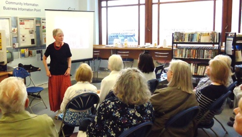 Tina Tamman at Paddington Library, July 2015