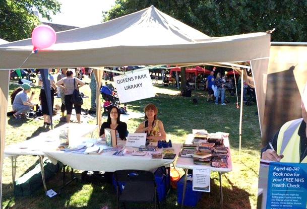 Queen's Park Library stall at Walterton & Elgin Community Homes' Summer Festival 2015