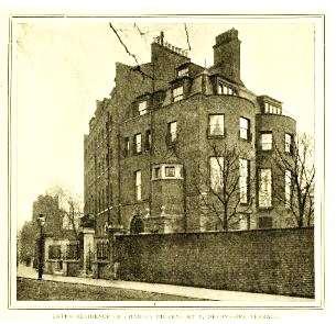 1 Devonshire Terrace, where Dickens lived, from Marylebone Road (Image sourced from The Victorian Web)