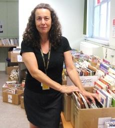 Volunteer Lisa at Maida Vale Library, 2015