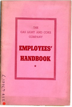 Gas Light and Coke Company: Employees' Handbook 1947. Image property of Westminster City Archives