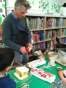 Summer Reading Challenge 2015: Making musical instruments with Giles at Queen's Park Library