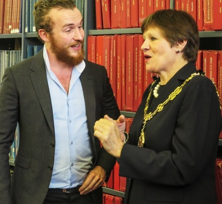 Ruairi Glasheen (Joint Force Singers Musical Director) with Westminster's Lord Mayor Locum Tenens Councillor Judith Warner