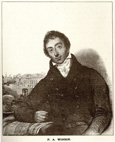 Frederick Albert Winsor. Image from 'The Gas Light and Coke Company: An Account of the progress of the Company from its incorporation by Royal Charter in the year 1812 to the present time' (1912)