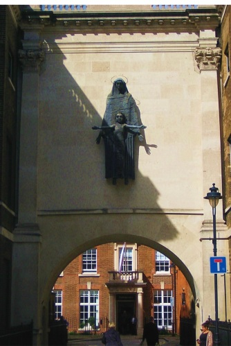 Dean's Mews, Cavendish Square: Jacob Epstain's Our Lady and the Holy Child