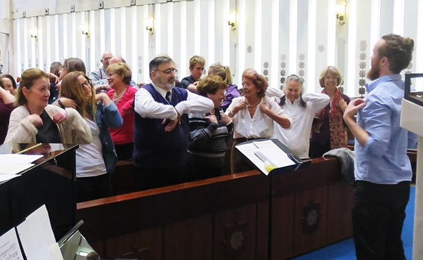 Joint Force Singers - first rehearsal, September 2015