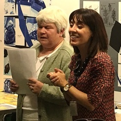 Sue and Debora. 6 Book Challenge event, Church Street Library, October 2015