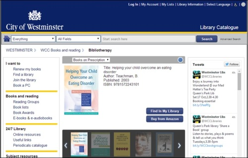 Browse the 'Books on Prescription' selection