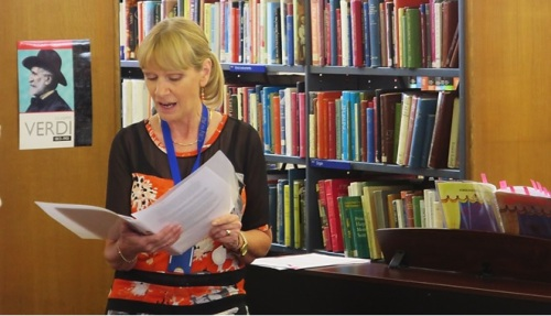 Ruth reads at A Driving Force: 100 Years of Women in Transport exhibition. Westminster Music Library, October 2015