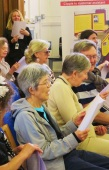 WW1 singalong at Westminster Music Library, to celebrate 100 years of women in public transport
