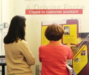 A Driving Force: 100 Years of Women in Transport exhibition at Westminster Music Library, October 2015