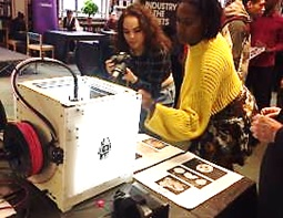 The 3D Printer - guest star at Westminster Reference Library's Enterprise Fair, November 2015
