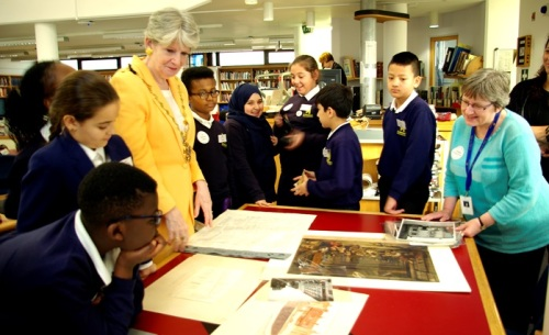 Takeover Day at Westminster City Archives, November 2015: with the Deputy Lord Mayor