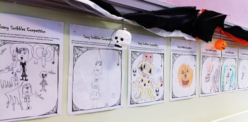 Hallowe'en at Maida Vale Library 2015 - Scary Scribbles