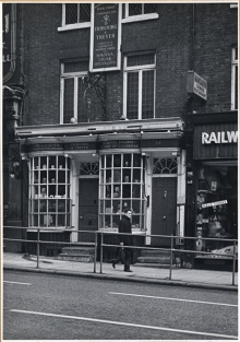Photo of Fribourg and Treyer's shop at 34 Haymarket, 1963. Image property of Westminster City Archives