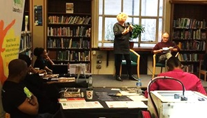 Julie Bundy & Simon Aslaaf from Maida Hill Place, at Westminster Reference Library's Enterprise Fair, November 2015