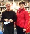 Alfio Bernabeis with Italian Consul Giulia Romani, Charing Cross Library, November 2015