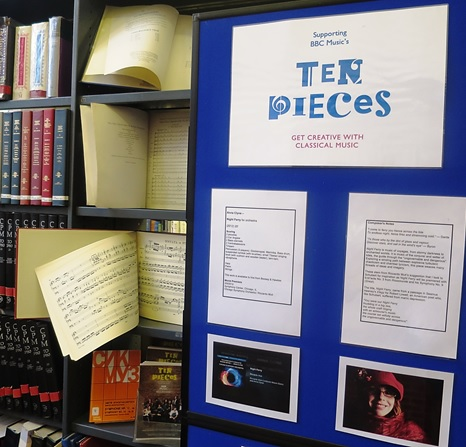 Ten Pieces Secondary display at Westminster Music Library