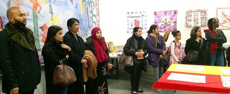 The Fabric of India workshop participants visiting the V&A