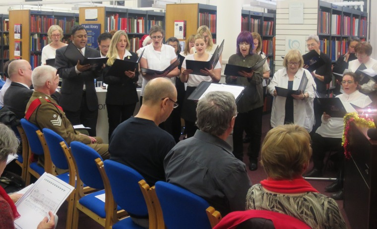 Joint Force Singers Christmas Concert at Westminster Music Library, December 2015