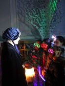 'Florrie Armstrong' and glowing children! Queen's Park Library sleepover, December 2015