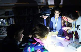 Clues with 'Florrie Armstrong' - Queen's Park Library sleepover, December 2015