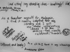 Church Street Library with Improbable - audience feedback December 2015