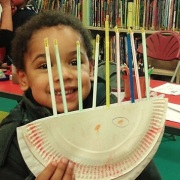 Hanukkah fun at St John's Wood Library, December 2015